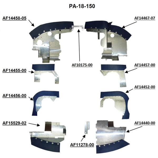 Piper PA-18-150 Complete Engine Baffle Set